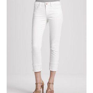 NWT Joe's White Clean Cuff Crop Jeans